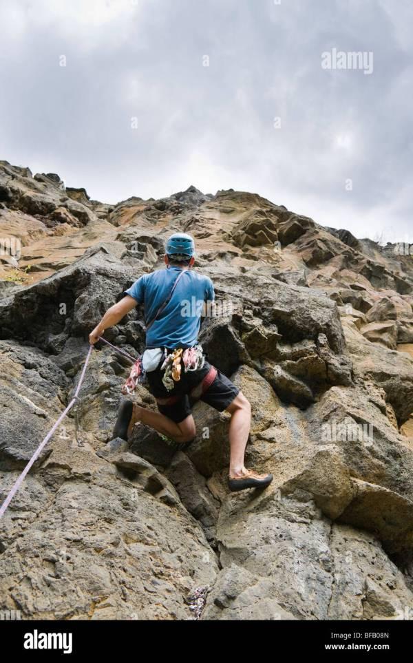 Lava Rock Wall Stock & - Alamy