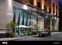 Audi Parked Hotel Entrance. Luxury Boutique