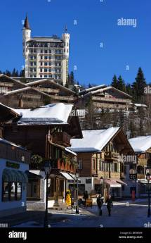 Gstaad Palace Winter Stock &