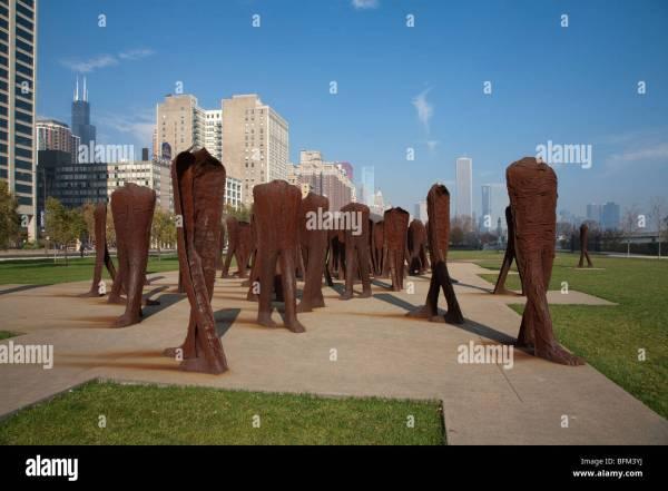 Agora Sculptures Magdalena Abakanowicz Stock