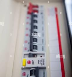 consumer unit split load fuse board stock image [ 866 x 1390 Pixel ]