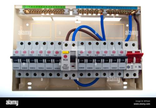 small resolution of consumer unit split load fuse board stock image
