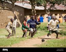 African Boys Playing Football