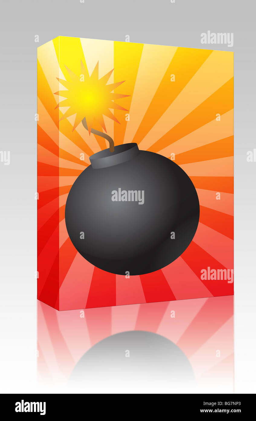 hight resolution of software package box old fashioned round black bomb with lit fuse