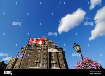 Fairmont Banff Springs Hotel Alberta Canada Stock