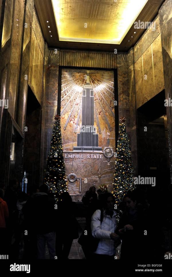 Empire State Building Interior Stock &