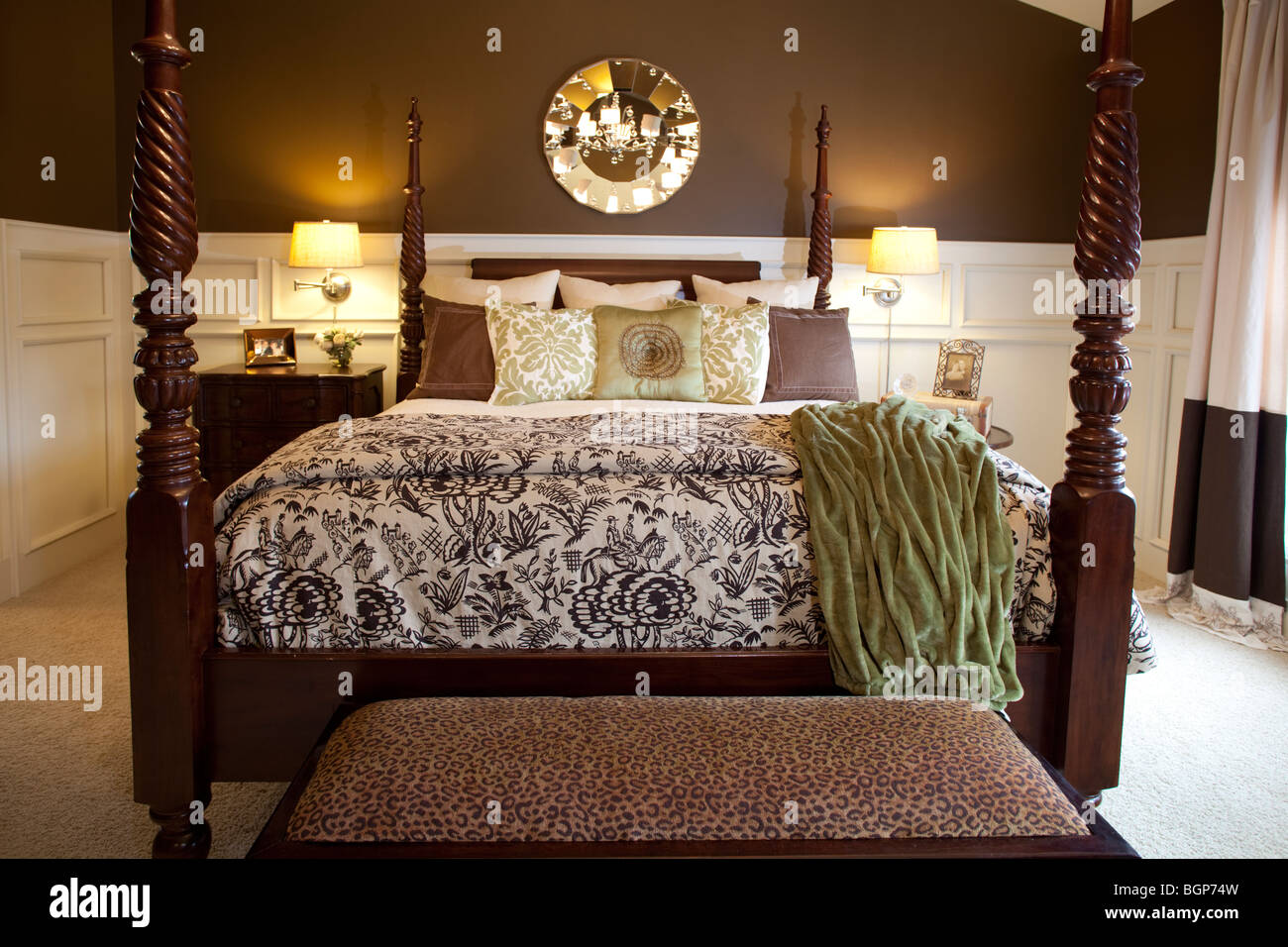 https www alamy com stock photo four poster king size double bed in master bedroom furnished in warm 27533433 html