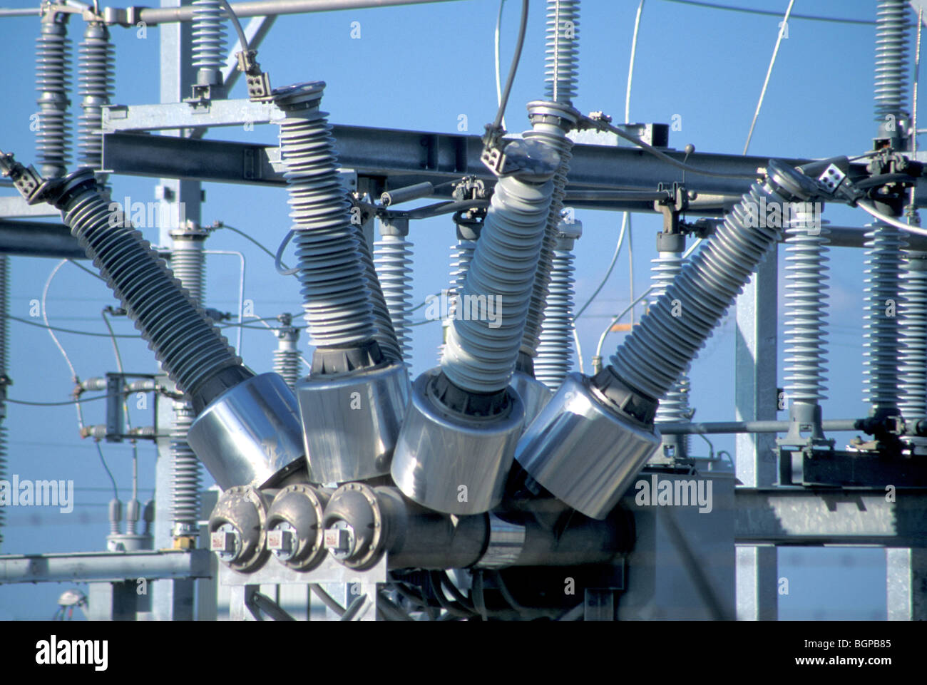 hight resolution of an electrical transformer stock image
