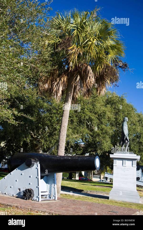 White Point Gardens Charleston Stock &