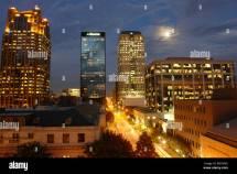 Birmingham Al Alabama Downtown Skyline Stock