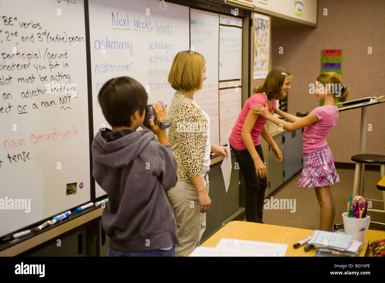 California Middle School Students Act Out Vocabulary Word
