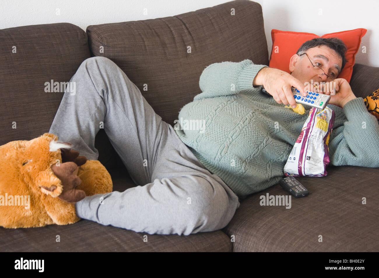 Couch potato Stock Photo 27670579  Alamy