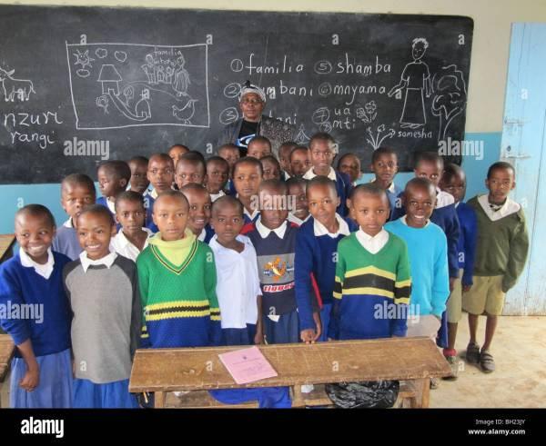 Secondary Mathematics Class Teacher Stock