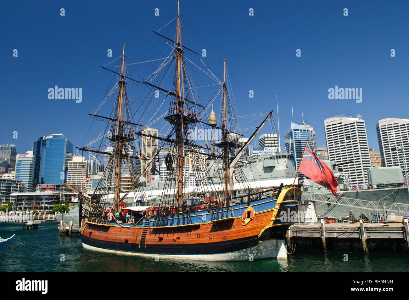 Captain Cook Ship Stock Photos Captain Cook Ship Stock