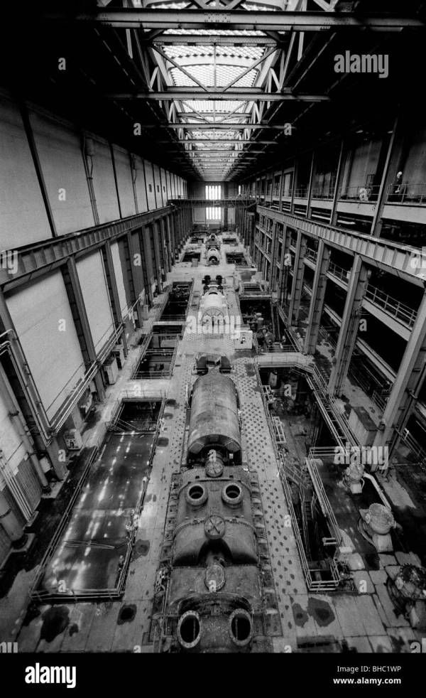 Bankside Power Station Showing Massive Turbine Hall Stock 27924450 - Alamy