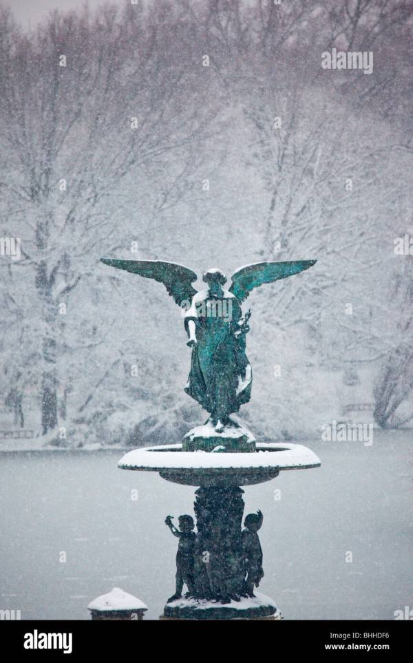 Bethesda Terrace Snow Stock - Year of Clean Water