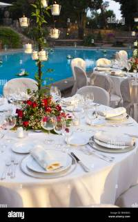 Wedding Reception Table Setting Stock Photos & Wedding
