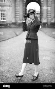 1940s fashion stock &
