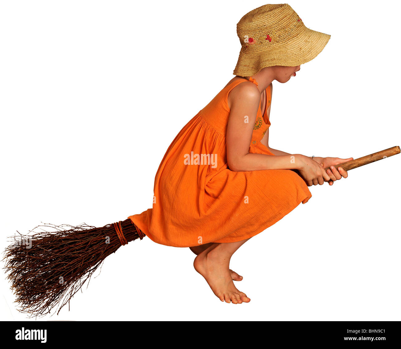witches witches broom girl