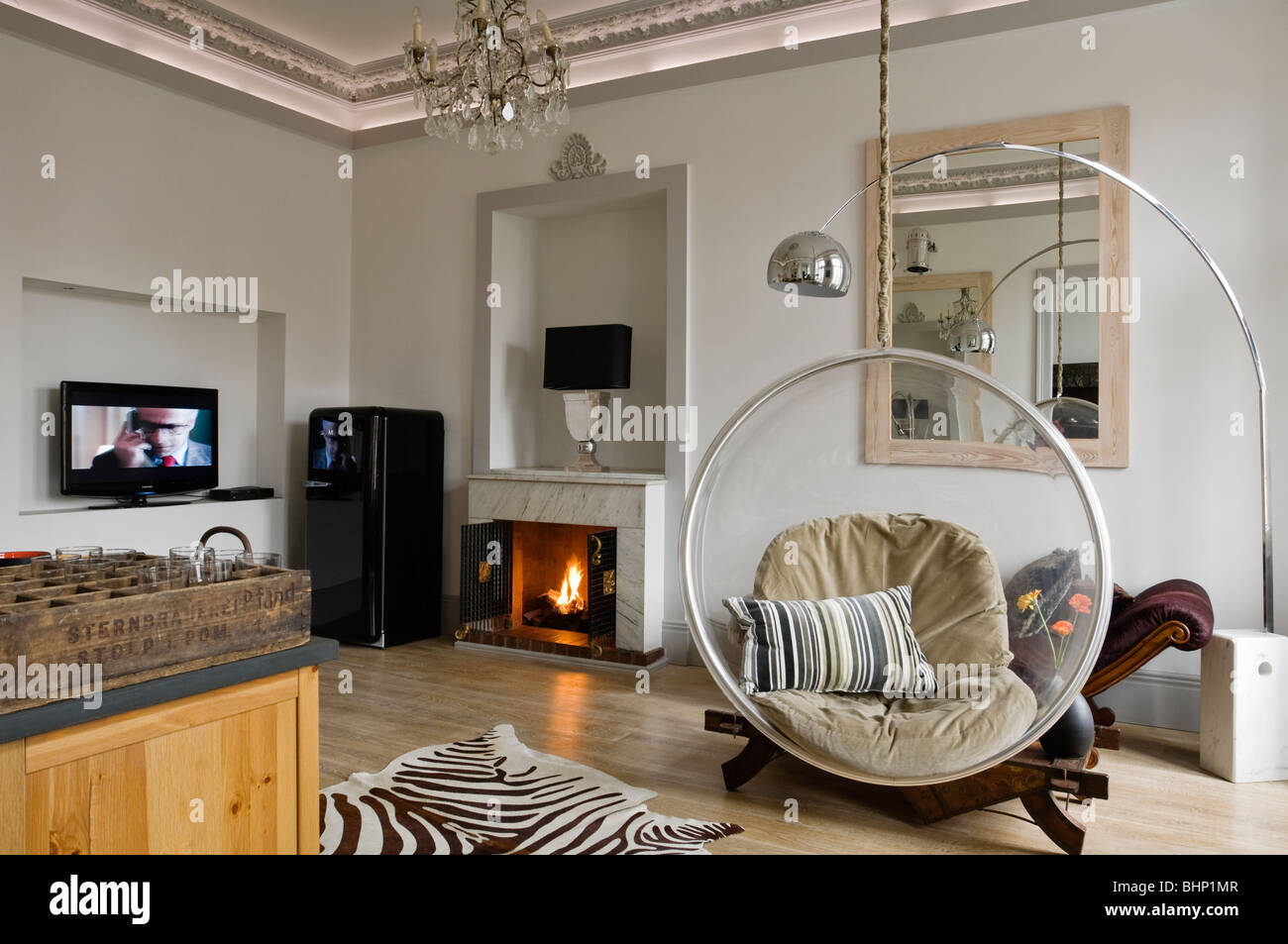eero aarnio bubble chair pink canopy lovingheartdesigns in living room with zebra skin saveenlarge
