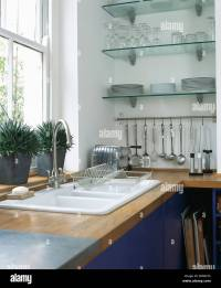 Shelves Above Kitchen Sink Stock Photos & Shelves Above ...