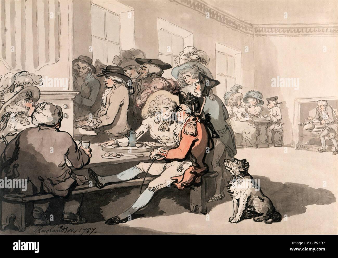 The Chocolate House 1787 Artist Thomas Rowlandson