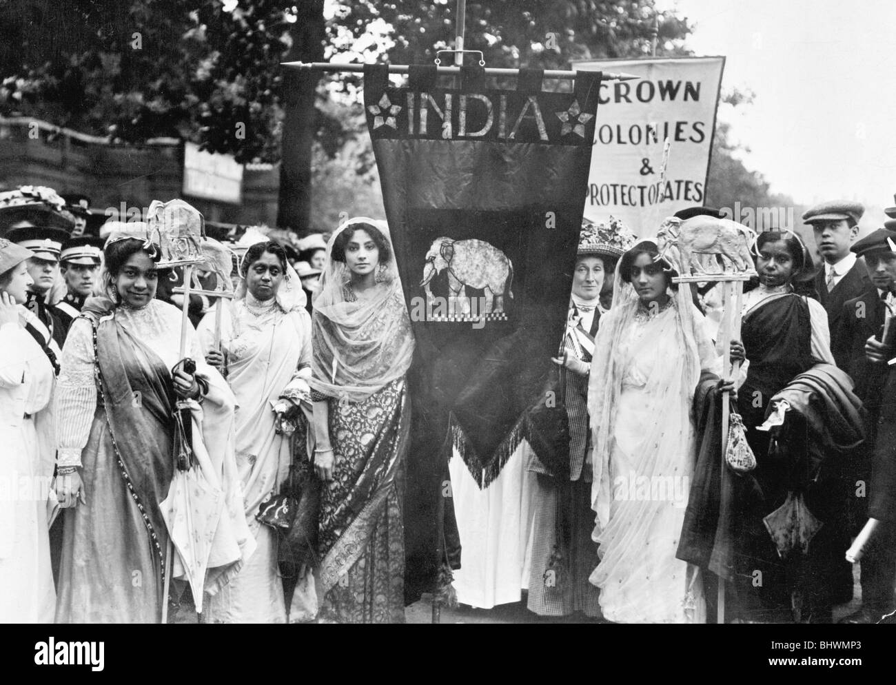 Indian suffragettes on the Womens Coronation Procession