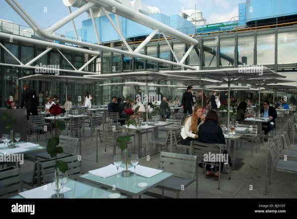 Paris France People Tables In Centre Pompidou Modern Art Stock 28341204 - Alamy