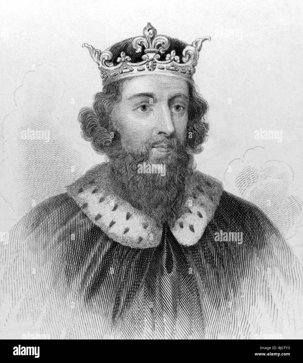 King Alfred The Great 849 899 On Engraving From The