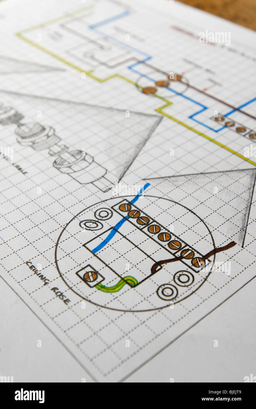 medium resolution of technical drawing of electrical ceiling rose wiring diagram
