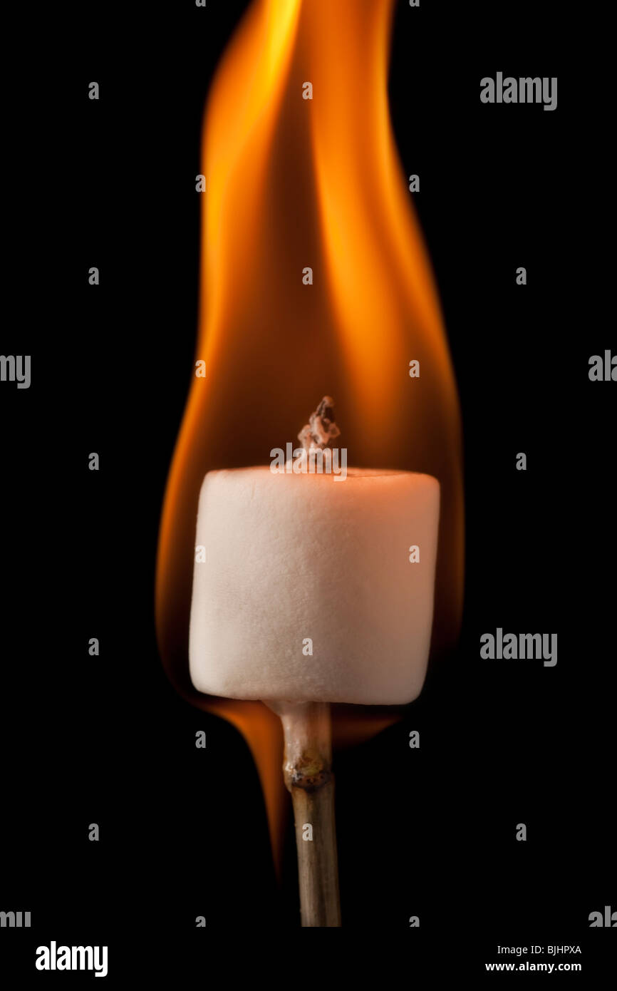 marshmallow burning on a