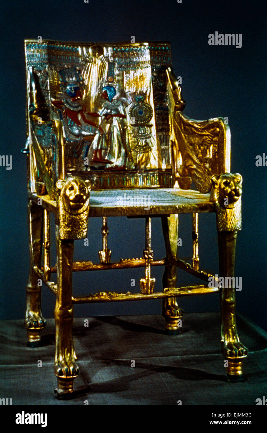 Tutankhamun Throne Stock Photos  Tutankhamun Throne Stock