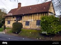 Wooden Beam Constructed Tudor Style House In
