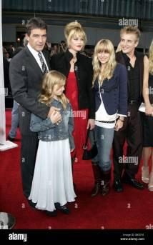 Antonio Banderas Melanie Griffith & Kids Legend Of