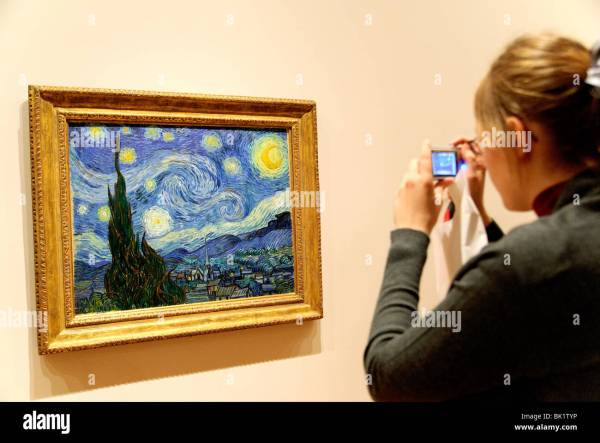 Starry Night 1889 Vincent Van Gogh Moma Museum