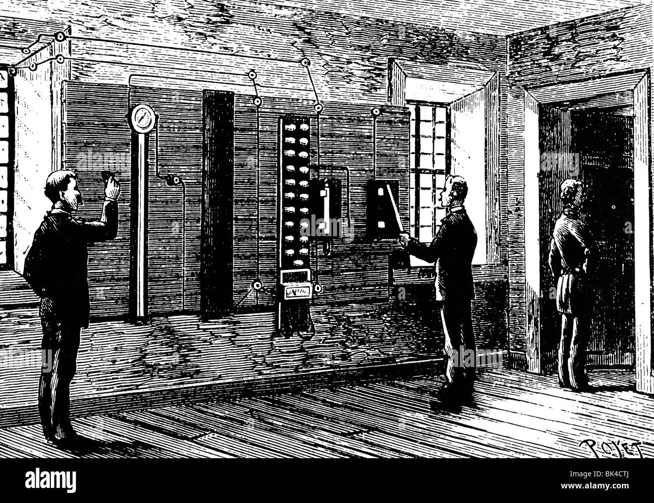 electric chair was invented by cover hire lowestoft edison is seen as inventor of the stock photos switching gear for 1890 image