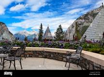Scenic View Terrace Of Banff Springs Hotel