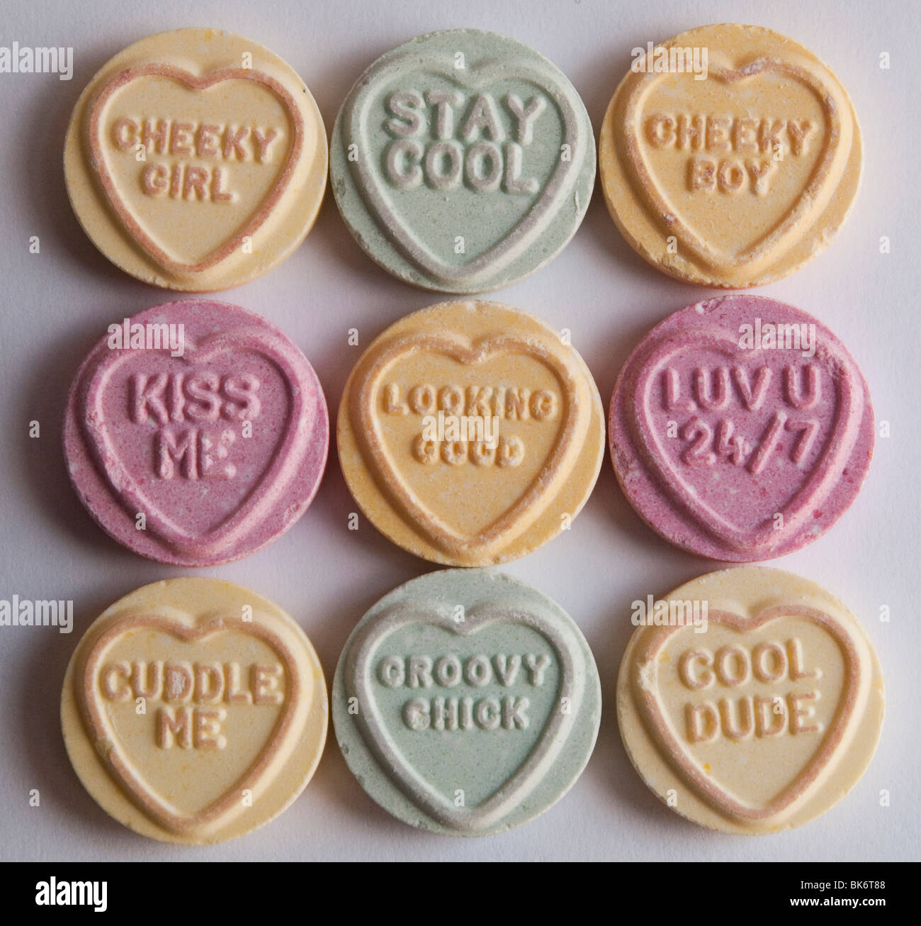 Close Up Of Love Heart Sweets Stock Photo Royalty Free