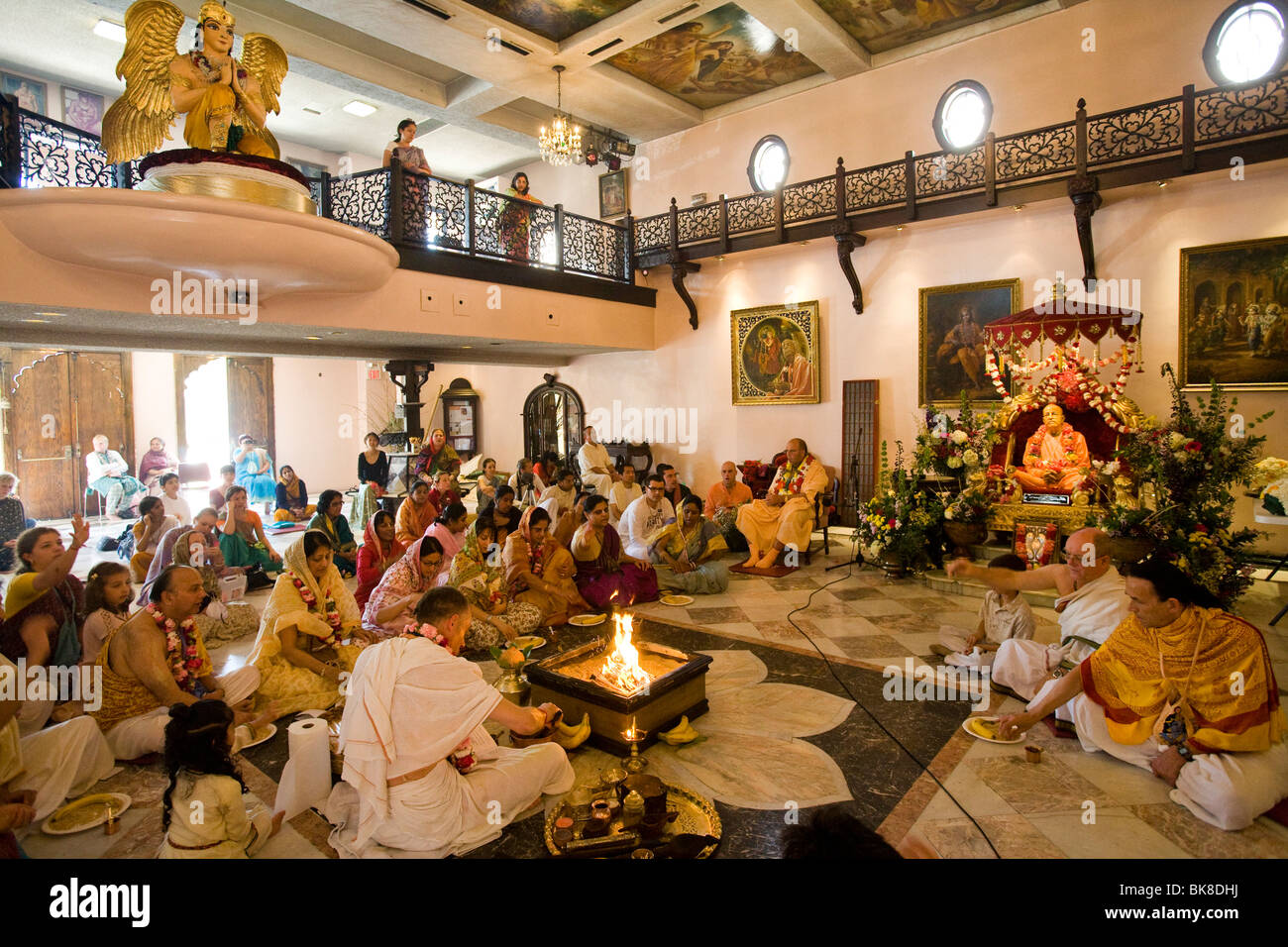 Ceremony at Hare Krishna temple in Culver City Los