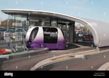 Personal Rapid Transport Prt Pod Waiting Car Park