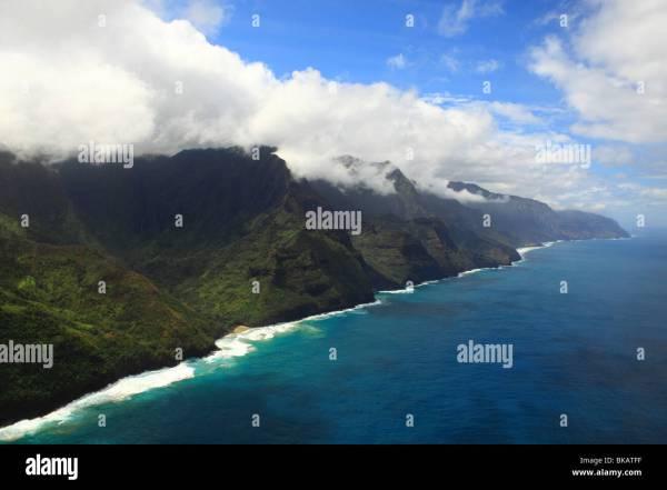 Kalalau Beach Aerial Stock & - Alamy