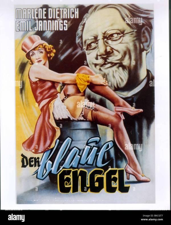 Blue Angel 1930 Der Blaue Engel Alt Poster Blan