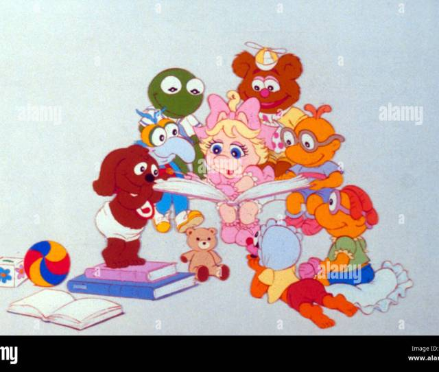 Muppet Babies Animation Gonzo Kermit The Frog Miss Piggy Fozzie Bear Mupb