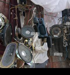 second hand loudspeakers for sale in port au prince haiti stock image [ 1300 x 953 Pixel ]