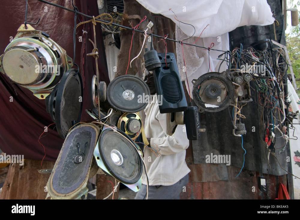 medium resolution of second hand loudspeakers for sale in port au prince haiti stock image