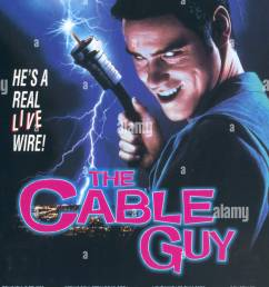 the cable guy 1996 poster stock image [ 825 x 1390 Pixel ]
