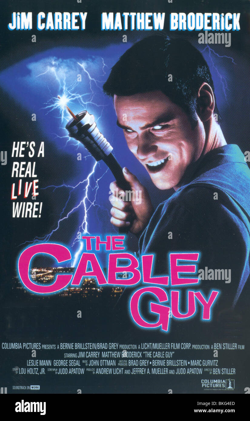medium resolution of the cable guy 1996 poster stock image