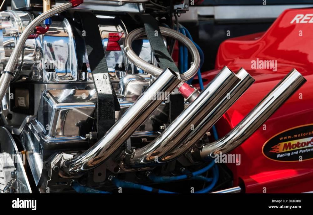 medium resolution of hot rod drag car engine at santa pod raceway england
