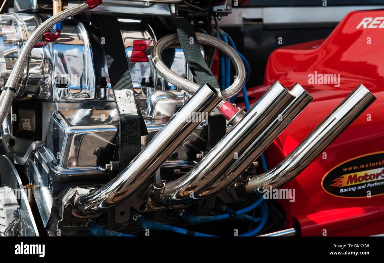 hight resolution of hot rod drag car engine at santa pod raceway england