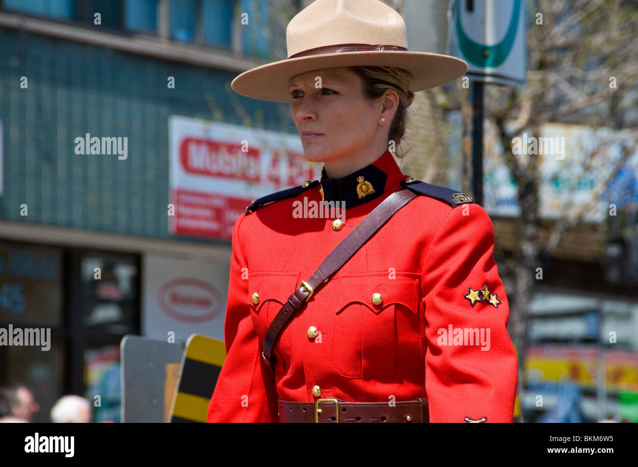 Female Officer Royal Canadian Mounted Police March In